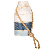 Blue & White Wood Buoy